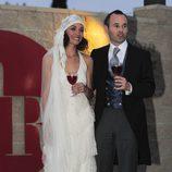 Andrés Iniesta y Anna Ortiz el día de su boda tras darse el 'sí quiero'
