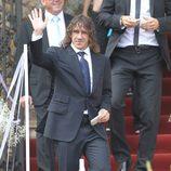Carles Puyol en la boda de Andrés Iniesta y Anna Ortiz