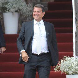 Joan Laporta en la boda de Andrés Iniesta y Anna Ortiz