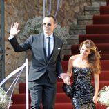 Risto Mejide y Ruth Jiménez en la boda de Andrés Iniesta y Anna Ortiz