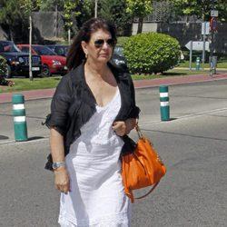 Esperanza Gracia en el funeral de Pedro Rodríguez