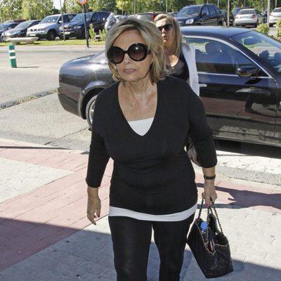 María Teresa Campos asiste al funeral de Pedro Rodríguez