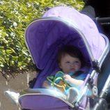 Harper Seven de paseo en su carrito