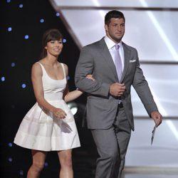 Jessica Biel y Tim Tebow en la 20 edición de los premios Espy Awards