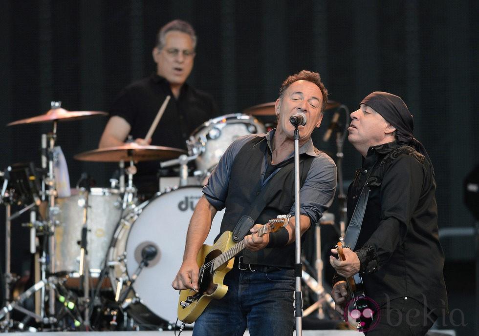 Bruce Springsteen con el grupo 'E Street Band' en concierto