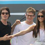 Ian Somerhadler, Nina Dobrev y Zach Roerig en la Comic-Con 2012