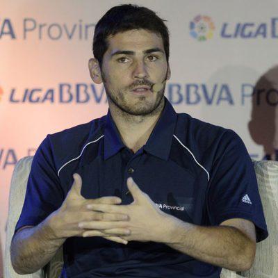Iker Casillas durante una conferencia ofrecida en Caracas