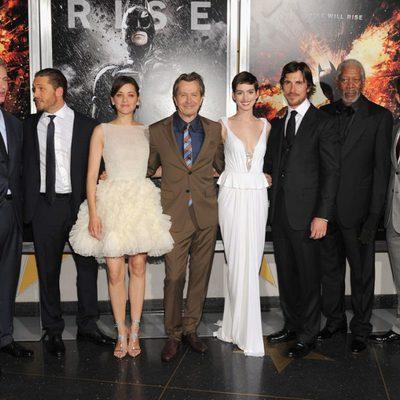 El reparto al completo de 'El Caballero Oscuro: La leyenda renace' en Nueva York