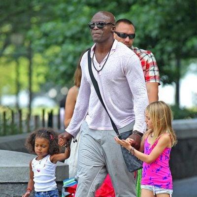 Seal con sus hijas Leni Klum y Lou Samuel en Nueva York