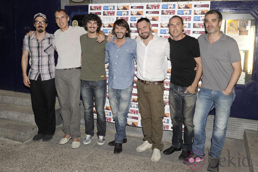 Fernando Tejero y el resto del equipo de la película 'Desechos' en Madrid