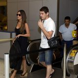 Iker Casillas y Sara Carbonero en el aeropuerto de Houston