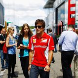 Fernando Alonso y Dasha Kapustina en el Gran Premio de Alemania 2012