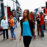 Dasha Kapustina en el Gran Premio de Alemania 2012