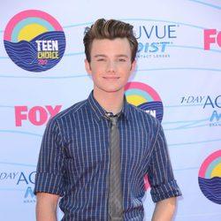 Chris Colfer posa en la gala Teen Choice Awards 2012