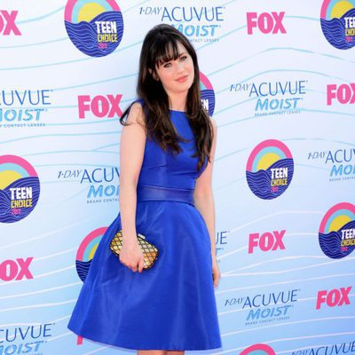 Zooey Deschanel en la gala Teen Choice Awards 2012