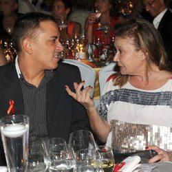 Kiko Hernández y Mila Ximénez en la gala Concordia Antisida 2012