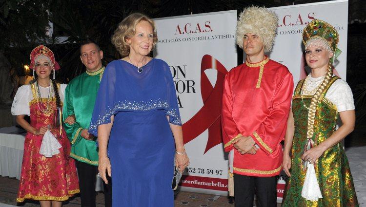 María Luisa de Prusia en la gala Concordia Antisida 2012