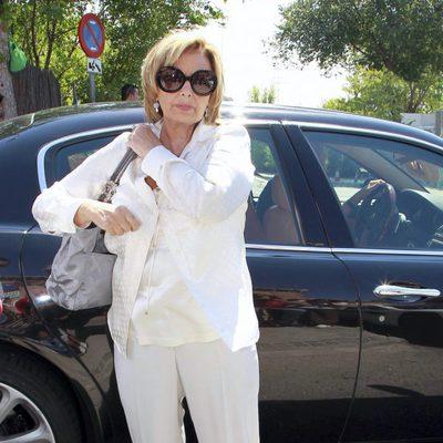 María Teresa Campos en el funeral de José Luis Uribarri