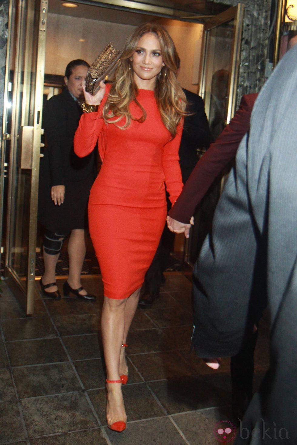 Jennifer Lopez durante la celebración de su 43 cumpleaños