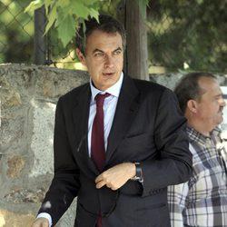 José Luis Rodríguez Zapatero en la capilla ardiente de Gregorio Peces-Barba