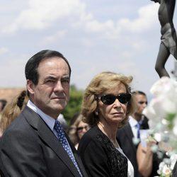 José Bono y María Teresa Fernández de la Vega en el funeral de Gregorio Peces-Barba