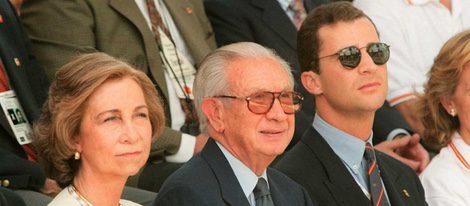 La Reina Sofía, Samaranch y el Príncipe Felipe en Atlanta 96