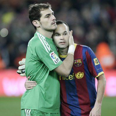 Iker Casillas y Andrés Iniesta
