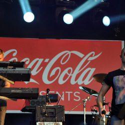 Max George de 'The Wanted' en el concierto celebrado en Hyde Park con motivo de los JJ.OO de Londres 2012