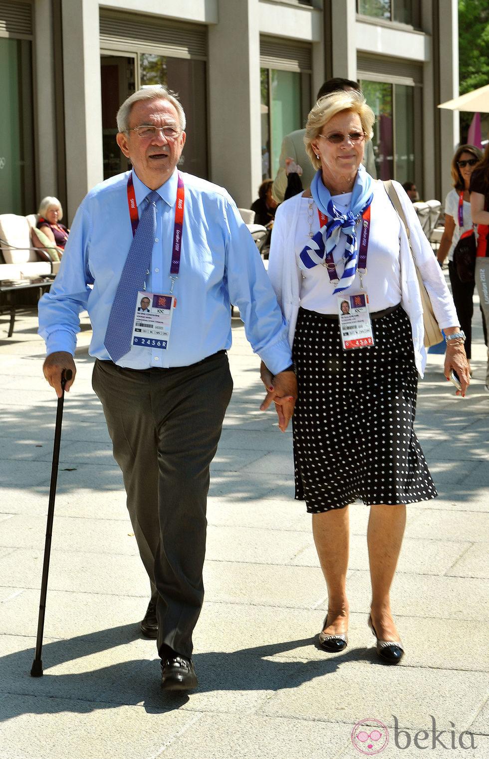 Constantino y Ana María de Grecia en el Parque Olímpico de Londres 2012