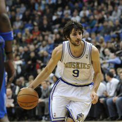 Ricky Rubio jugando en Minneapolis en enero 2012