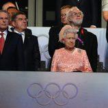La Reina Isabel II en la ceremonia de inauguración de los Juegos Olímpicos