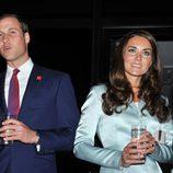 El Príncipe Guillermo y Kate Middleton en la ceremonia de inauguración de los Juegos Olímpicos