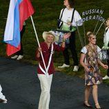 Maria Sharapova en la ceremonia de inauguración de los Juegos Olímpicos