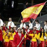 Pau Gasol porta la bandera de España en la inauguración de los Juegos Olimpicos de Londres 2012