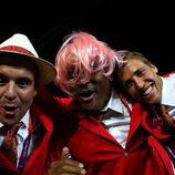 El waterpolista español Iván Pérez, con peluca rosa durante la inauguración de los Juegos Olímpicos
