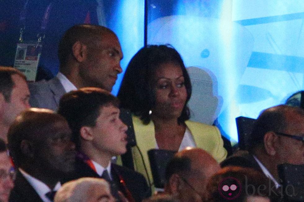 Michelle Obama durante la inauguración de los Juegos Olímpicos