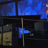 Paul McCartney en la ceremonia de inauguración de los Juegos Olímpicos