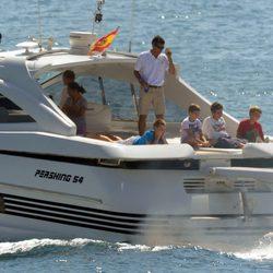 Los nietos de los Reyes comienzan el verano en Mallorca navegando