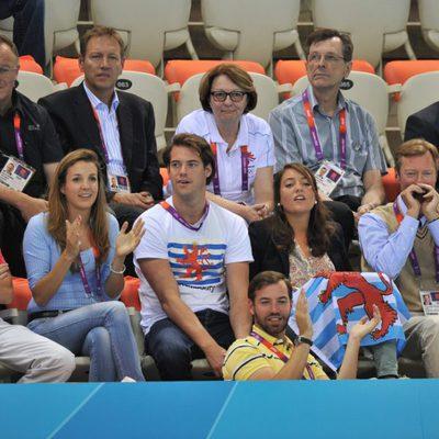 Los Grandes Duques de Luxemburgo y sus hijos en Londres 2012