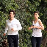 Tom Cruise y Katie Holmes haciendo deporte juntos