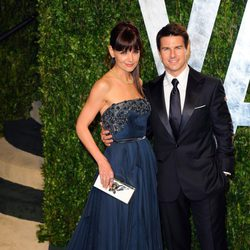 Tom Cruise y Katie Holmes en una fiesta celebrada tras los Oscar 2012