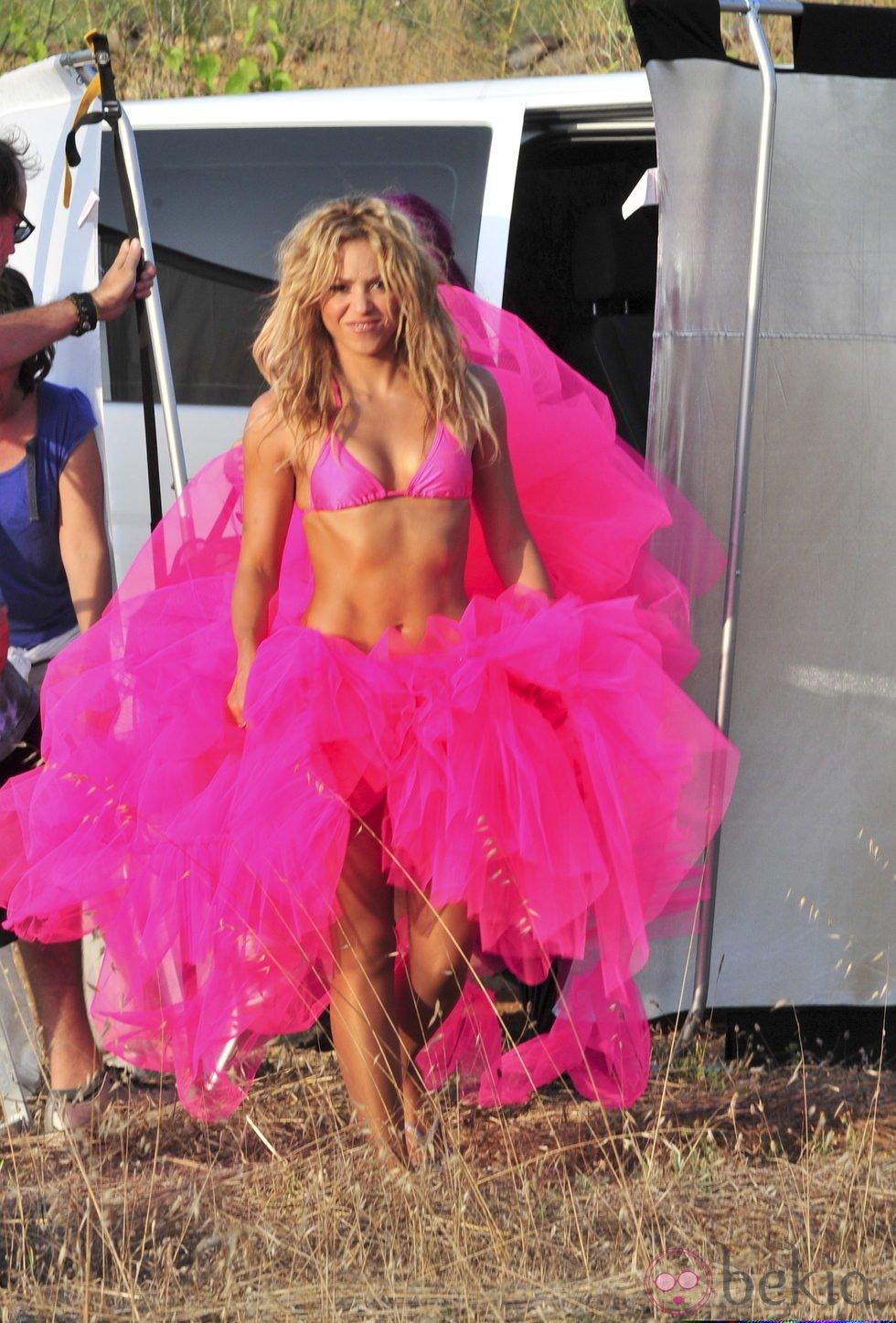 Shakira durante una sesión fotográfica en Ibiza