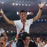 Tom Daley en la ceremonia de clausura de los Juegos Olímpicos de Pekín 2008