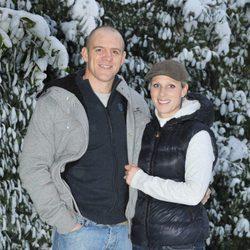 Zara Phillips y Mike Tindall el día que anunciaron su compromiso