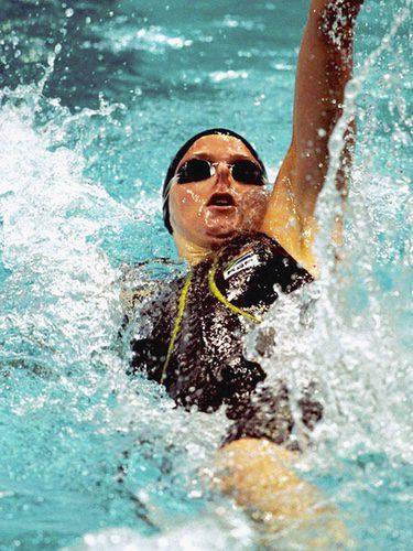 Charlene Wittstock en una competición de natación de Sidney 2000
