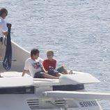 Felipe de Marichalar y Miguel Urdangarín durante sus vacaciones en Mallorca
