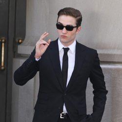 Robert Pattinson durante el rodaje de 'Cosmopolis'