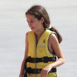 Victoria de Marichalar en su primer día de un curso de vela en Mallorca