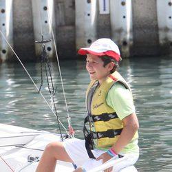Felipe de Marichalar en el primer día de un curso de vela en Mallorca