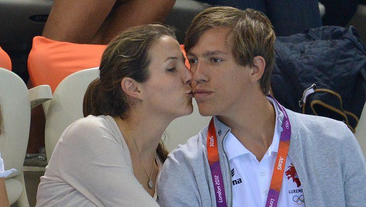 Tessy de Luxemburgo besa al Príncipe Luis en Londres 2012